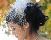 Custom Birdcage Veil and Fascinator - final payment for Camille