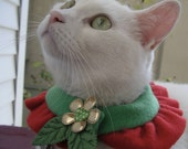 Mr. Elf - Decorative Cat/Dog Fleece Collar - Christmas