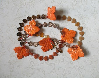 Autumn Colors Rosary - Maple Leaves