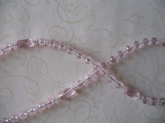 Pink Faceted Glass Rosary, Needs a good home, more than 50% off