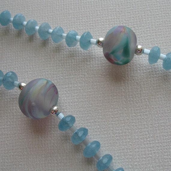 March Birthstone, Genuine Aquamarine Rosary - Small
