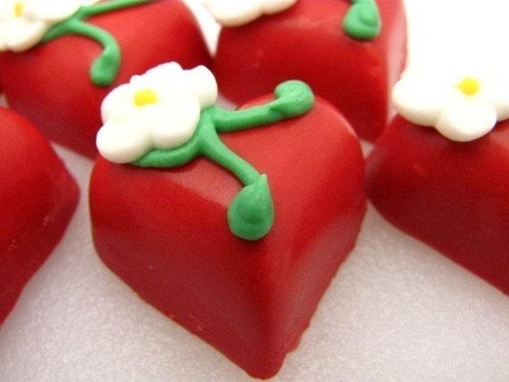 Strawberry  Heart Truffle