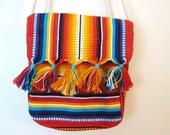 50% OFF SALE Rainbow Tassel Striped Ethnic Purse