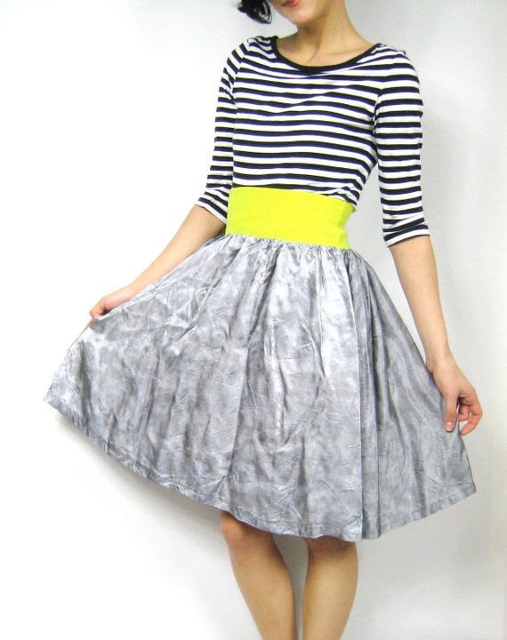 30% OFF SALE Handmade Highlighter Full Party Skirt (S/M)