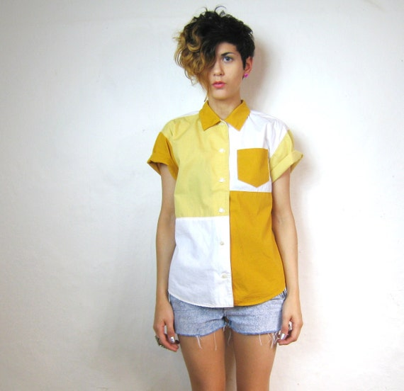 Sunny Egg Color Blocked Blouse (XS/S)