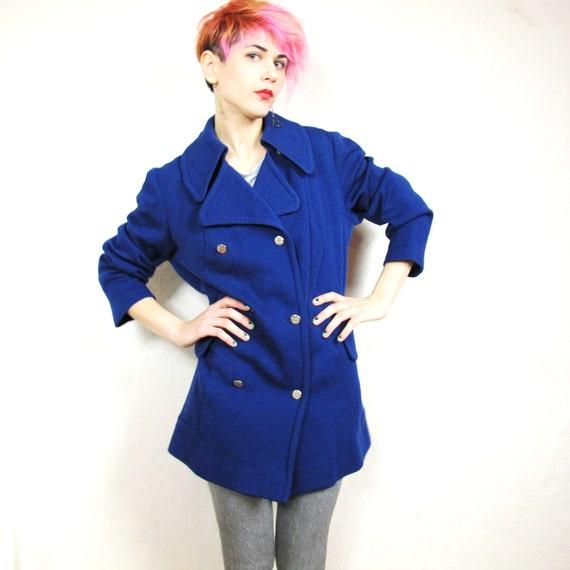 S A L E  70s Nautical Blue Wool Classic Jacket (M/L)
