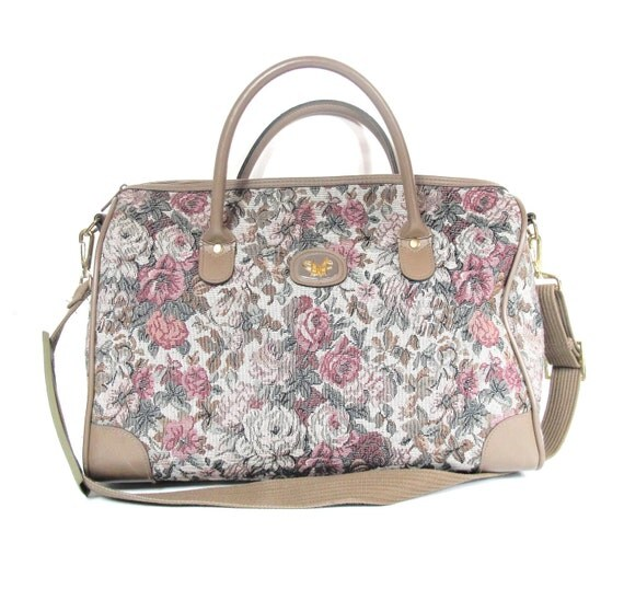 S A L E  80s Dvf Rose Tapestry Carry-on Luggage