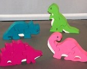 Children's wooden small Dinosaur puzzles, handmade with non-toxic paint   27.01.045s