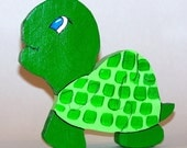 Children's wooden Turtle puzzle handmade with non-toxic paint   27.01.036
