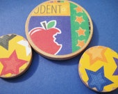 Star Student wood magnets set of 3