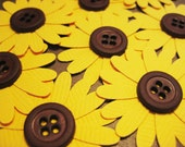 Sunflower embellishments, set of 8