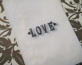 LOVE glassine bags, wedding favors, candy bags (set of 20)