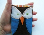 Sylvester Owl iPhone Bleckberry Nexus One case brown blue white striped orange