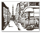 Paris Cafe Amour-11x14 Print -Coffee Shops around the World Buy 3 get one Free
