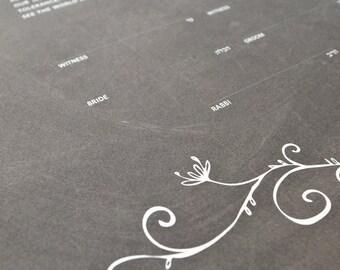 Ketubah Giclée Print by Jennifer Raichman - Rustic Garland