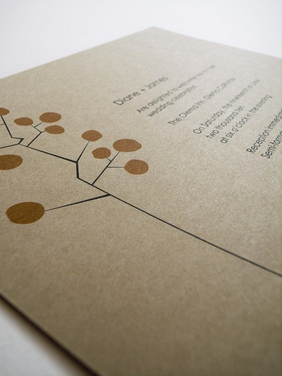 Invite Sample - Circle Tree (recycled paper)
