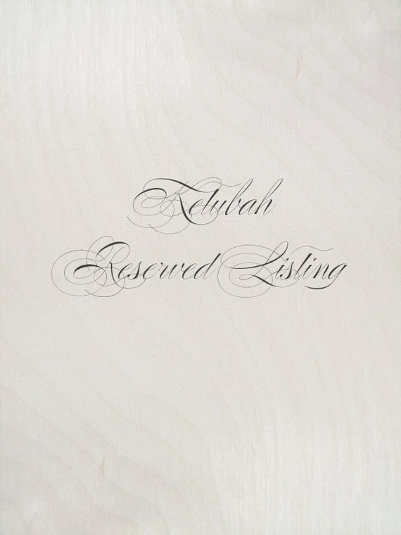 Reserved Listing for Teresa & Michael (Ketubah)