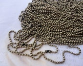 40pcs 27 inch 2.0mm  antique bronze  ball necklace chain with matching connector