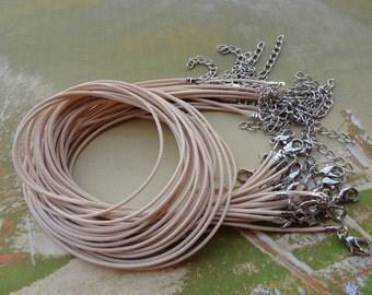 20pcs 1.5mm 16-18 inch adjustable korea wax string necklace cord