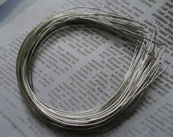 15pcs Metal Headbands 1mm silver color with bent end