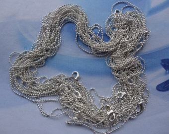 Get 50pcs of our Silver Plated/ Ball Chain Necklaces/Jewelry supply/16.5 inch