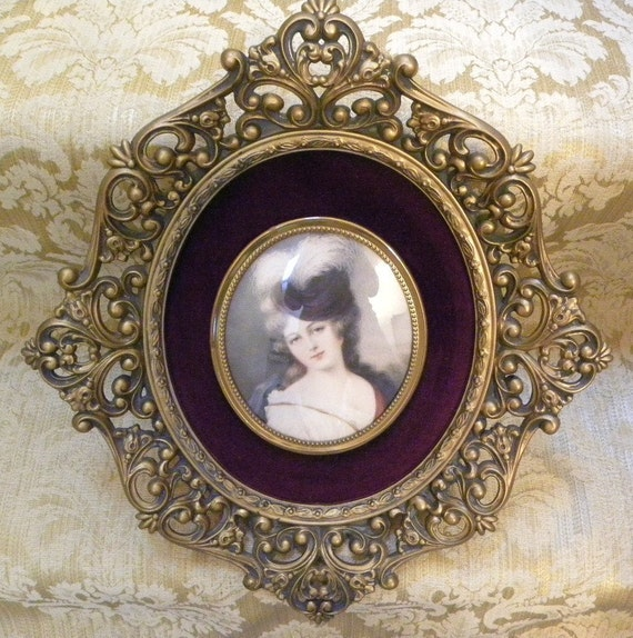 Vintage Victorian Cameo Creation Wall Art Portrait Large
