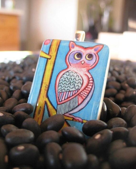 Owl Pendant on Tile Rummy