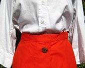 Vintage Orange Button Down Skirt VR738
