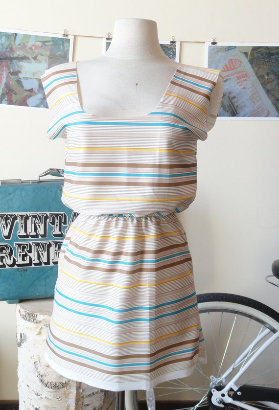Coffee stripes Tunic VR6051