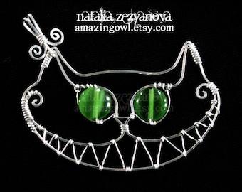 Cheshire Cat Pendant - sterling silver - custom