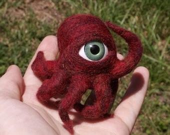 Aye-Aye Capn' - Sweet One-Eyed Red Octopus Monster - Pocket Cyclops