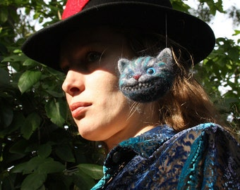 Cheshire Cat Hat - Alice in Wonderland - Original Wearable Art Hat - Custom Made For You