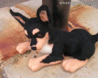 Custom Needle Felted Dog Portrait - Any Breed