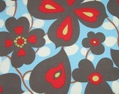 1.83 yards Amy Butler Morning Glory Fabric in Linen