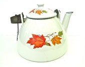 Descoware Tea Kettle Autumn Leaves Pattern from Belgium