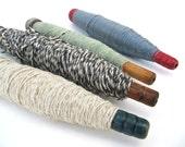 Set of 4 Yarn Thread Spools Bobbins