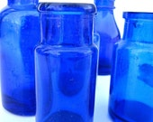 Cobalt Blue Apothecary Bottles Instant Collection CLEARANCE