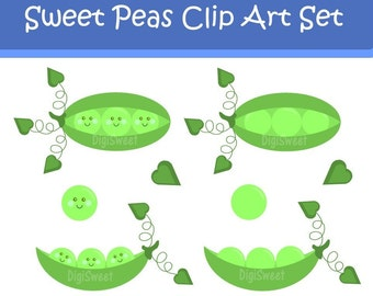 Instant Download - Sweet Pea Clip Art - Personal and Commercial Use DS27
