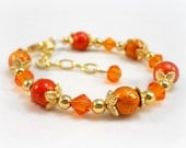 Childrens Bracelets Orange Little Girls Jewelry