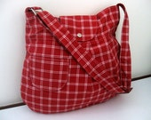 NEW-Pleated-Red and White-Adjustable to Straps