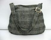 Wool Bag II-Pleated-Adjustable to Straps-Zipper Closure