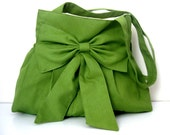 Tote Bag-shoulder bag-Green-Everyday Bag-Double Straps