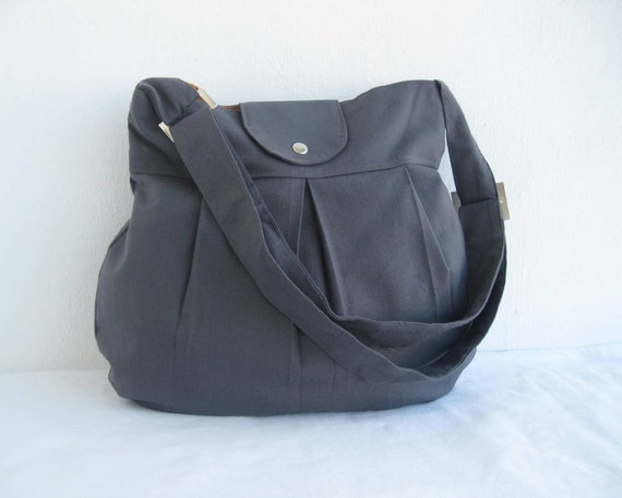 NEW-Pleated-Grey-Adjustable to Straps