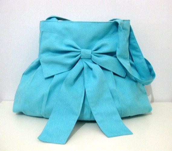 Light Blue Bag-Purse-tote-Blue-Everyday Bag-Double Straps