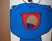 Cookie Monster google eyes  Corn hole  game   with 4 bean bags