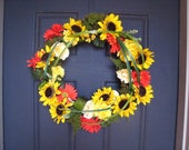 RESERVED FOR JEN-2 of Bring On Summer Sunflower Wreath