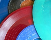 Collection of 45s - Translucent Vinyl Records