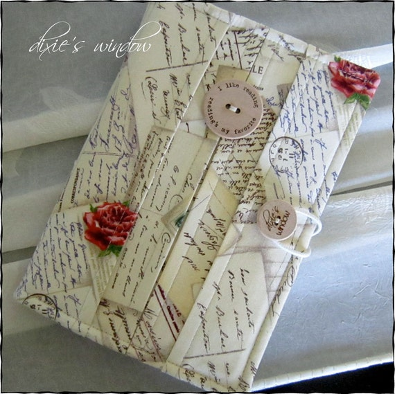 FReNCh PoSTCarDs Book Style Case for your Kindle 3G - Kindle Fire - Nook Tablet - Nook - NookColor
