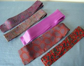 Vintage Jewel-toned Floppy Bows (Ties)