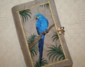 Macaw Bird Embroidered Book Cover